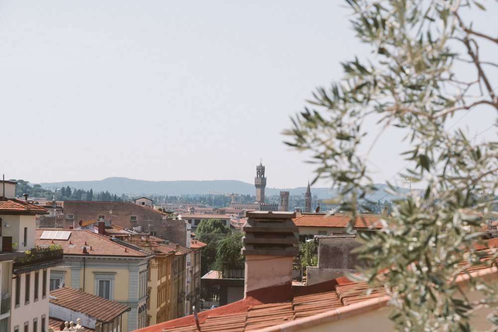 The view of the Uffizi Gallery from the  Giacomo's  terrace
