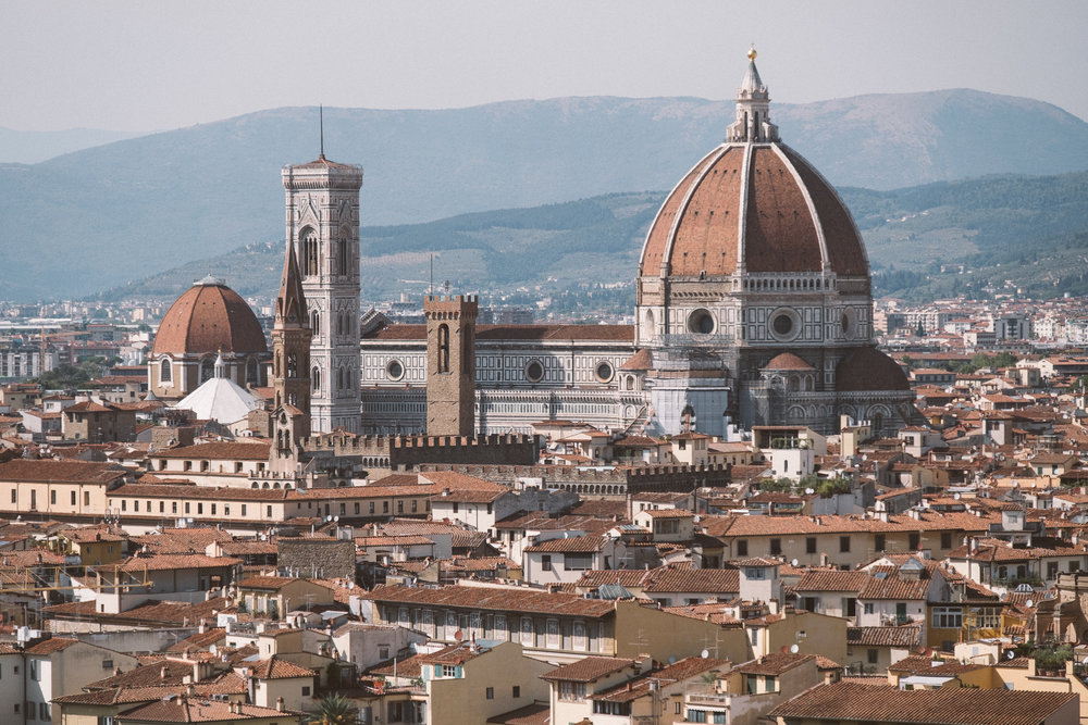 A view from the Piazza Michelangelo, Florence