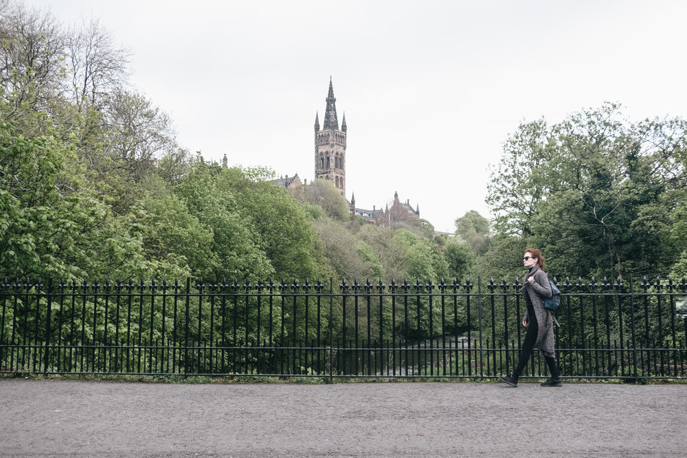 University of Glasgow is marked [2] on the guide