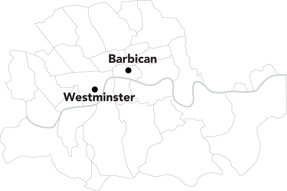 The Barbican site is on the northern edge of what was once Roman Londinium