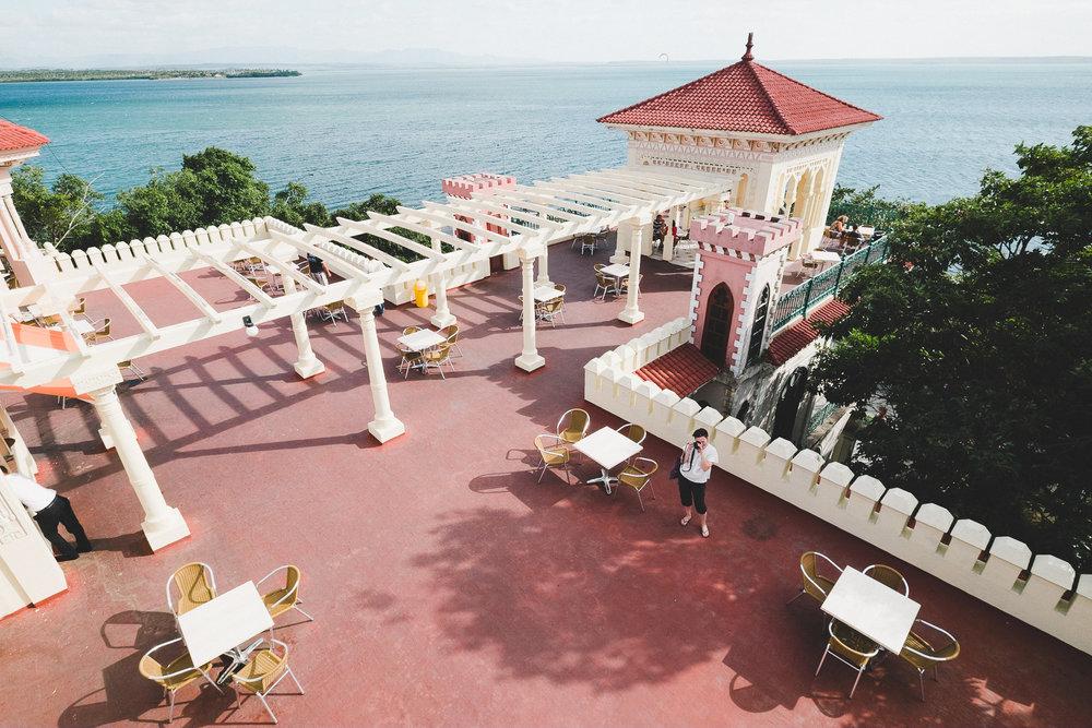 The view over the terrace bar at Palacio de Valle