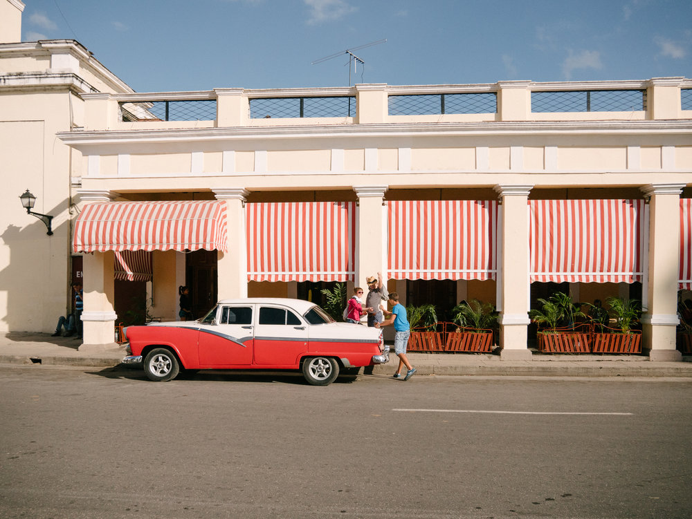 Old American cars are used as taxi across Cuba