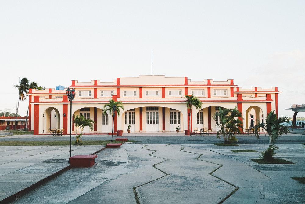 Architecture of 1950s along the Paseo del Prado