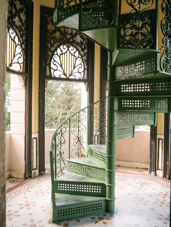 Intricate interior details in Palacio de Valle