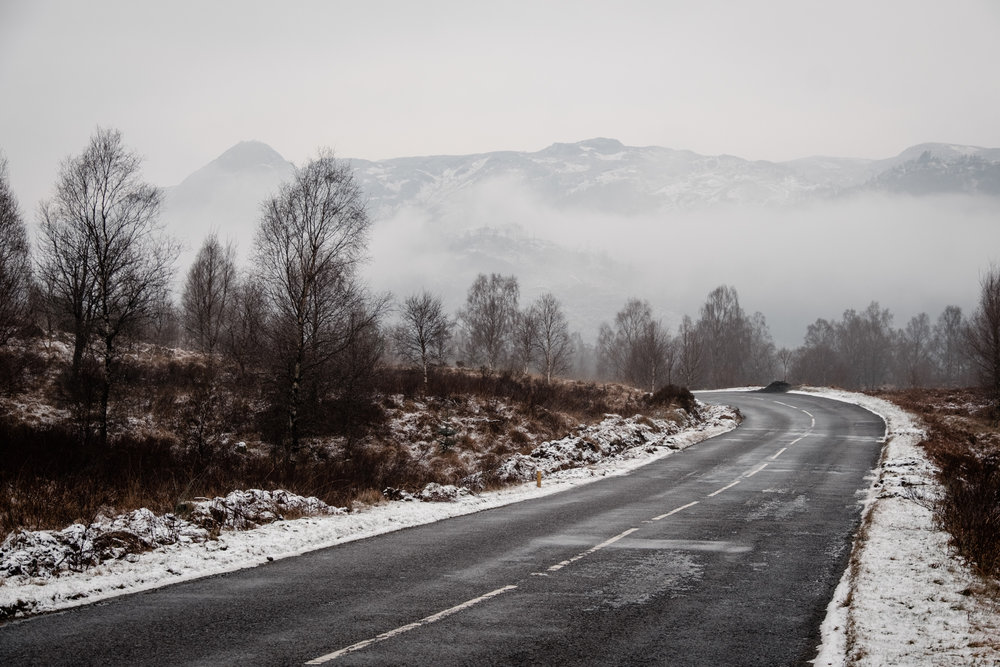 A scenic drive along the Dukes Pass on A821
