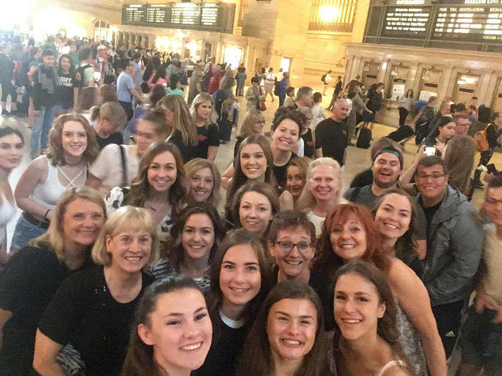 Selfies in Grand Central Station!