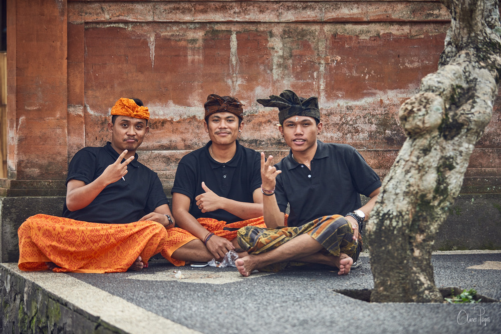 Merta and his buddies from the Atman Café in Ubud