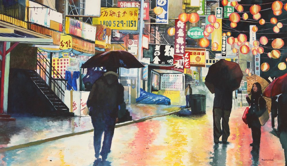 "China Town, NYC 39"" W x 23"" H $6500."