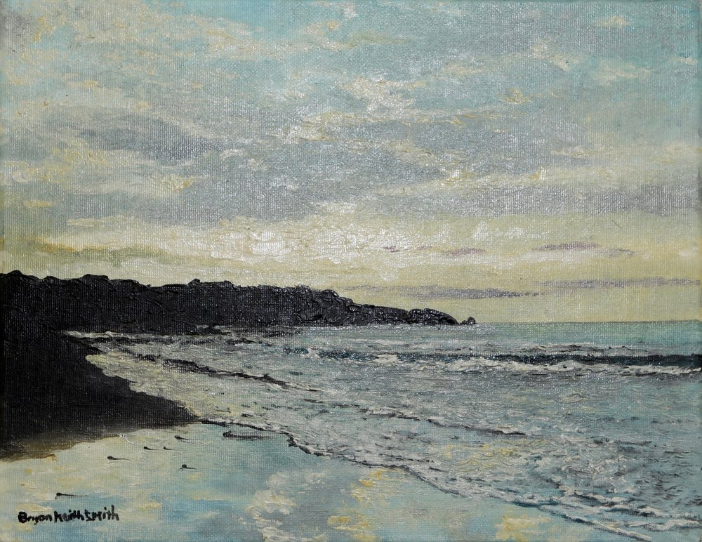 "Playa Del Mar 20 3/4"" W x 18"" H   Framed $1200."