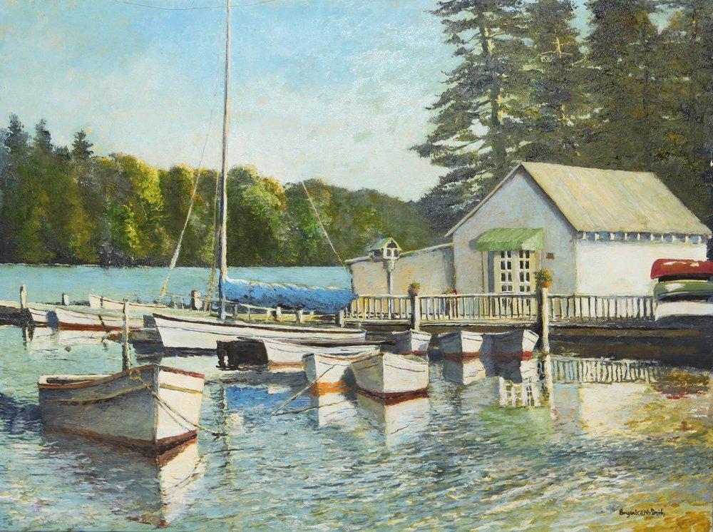 """Quiet Dock 24"""" W x 18"""" H $4000."""