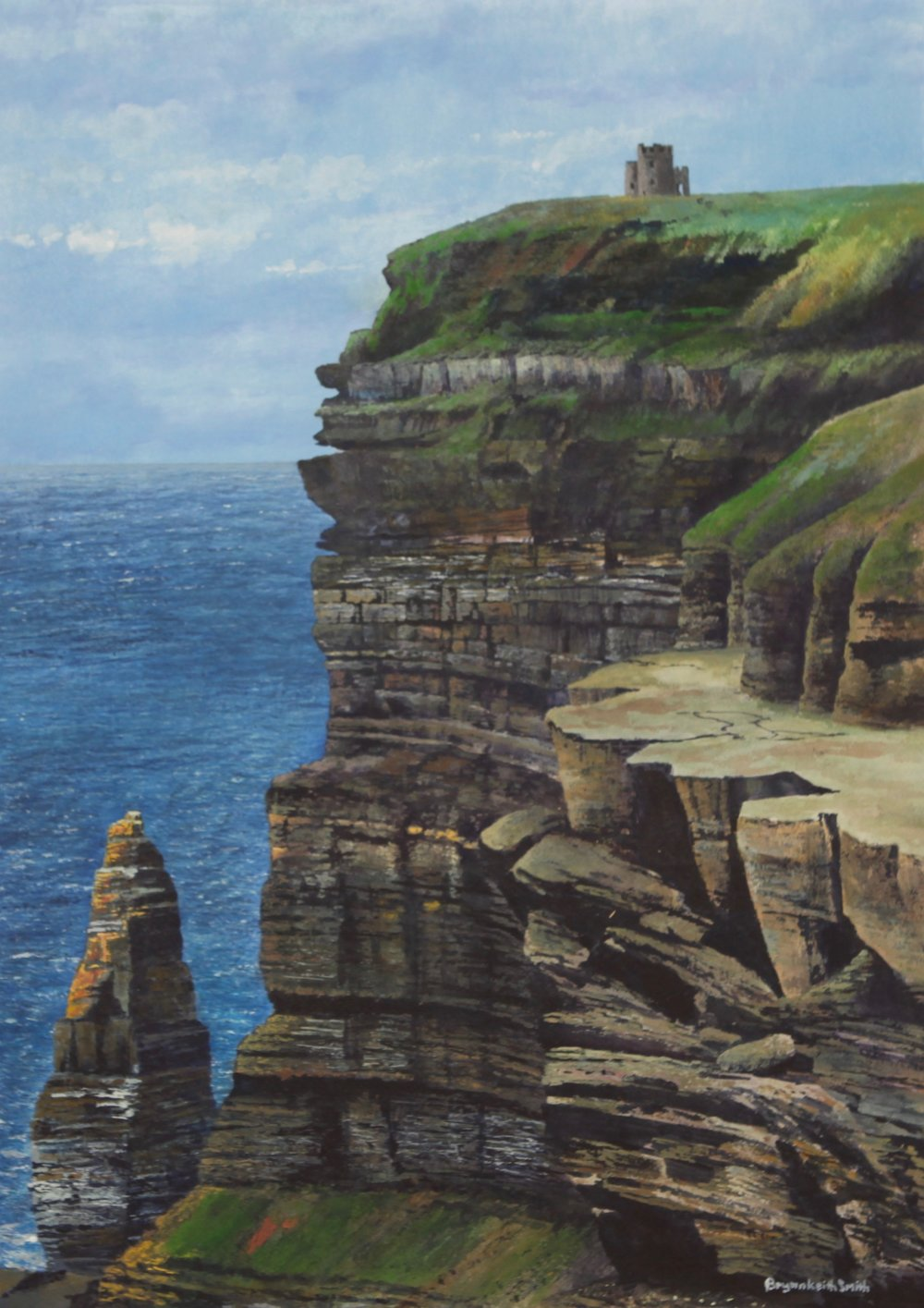 "Cliffs of Moher 26 1/2"" W x 19"" H $3500."