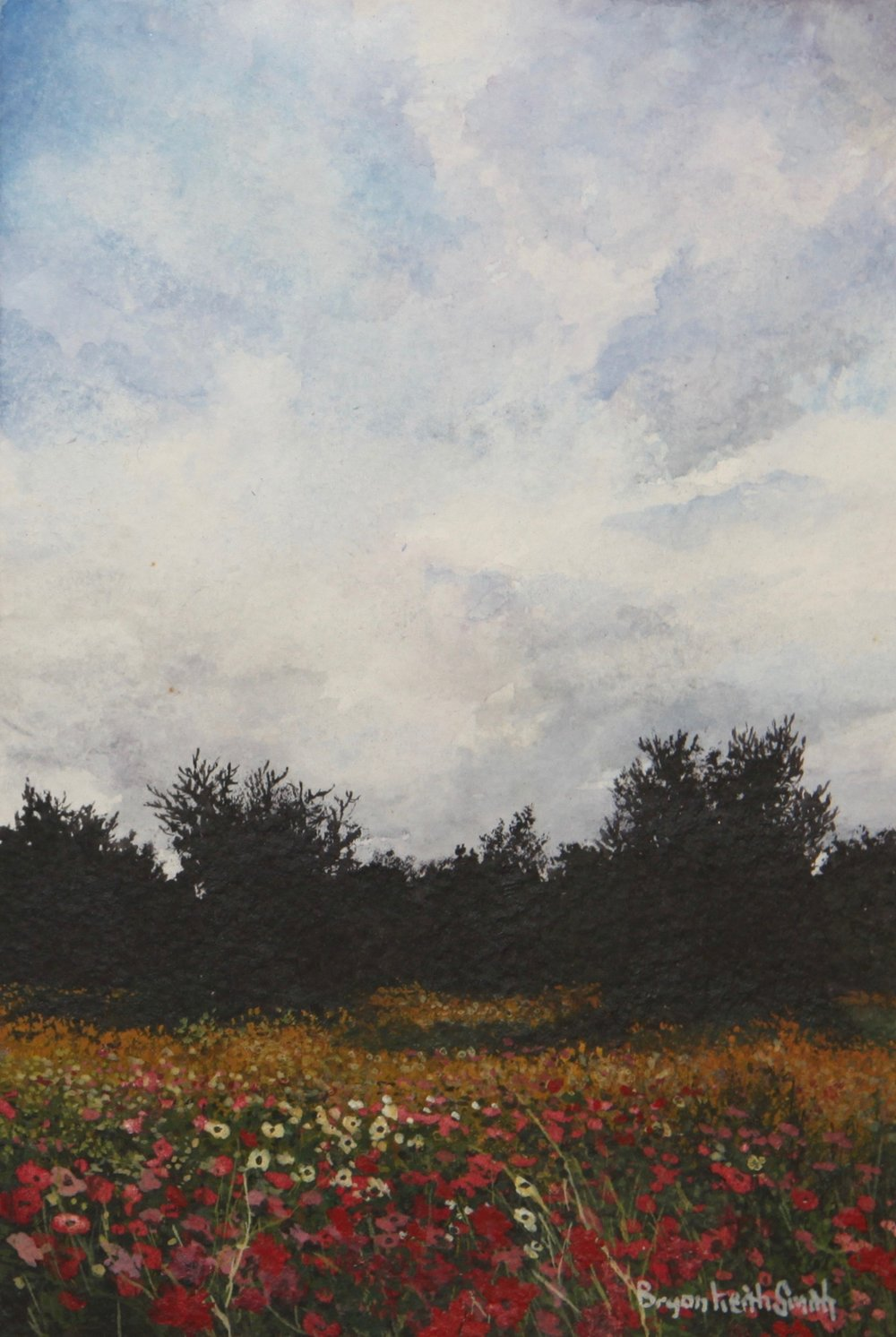 "Field of Color, I 16 1/4"" W x 18 1/4"" H   Framed $950."