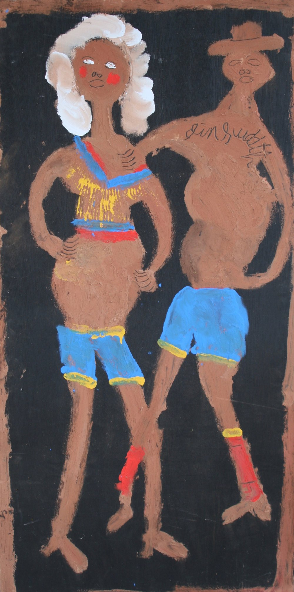 "Couple with Swim Suits 24"" W x 48"" H Unframed $1400."