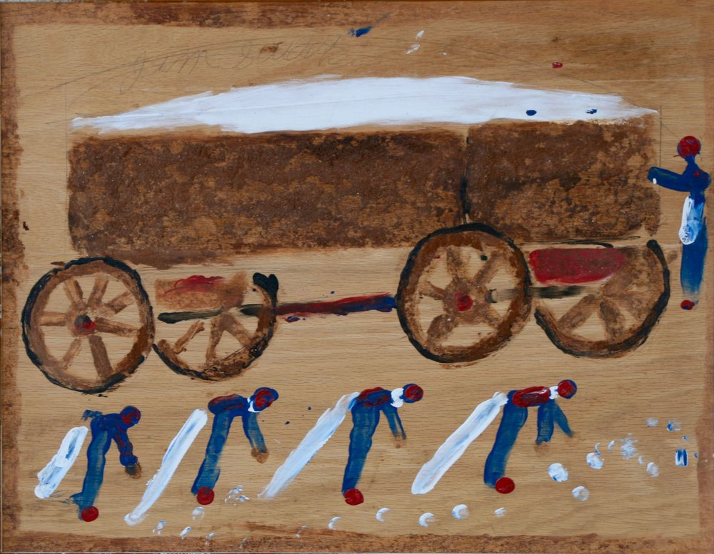 "Cotton Pickers 26 1/4"" W x 21 1/4"" H Framed $1400."