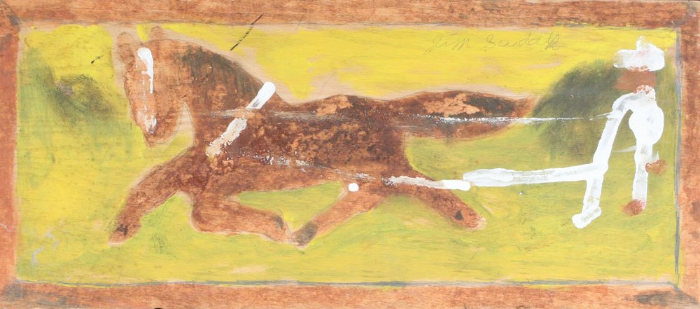 "Man Plowing 25"" W x 11"" H Unframed $1400."