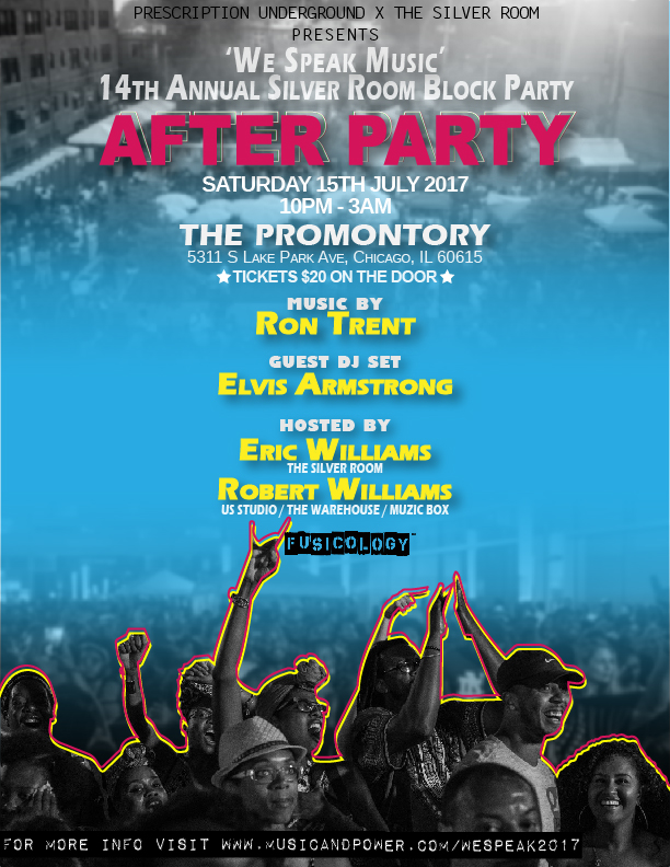 Silver Room Block Party 2017 After Party Flyer