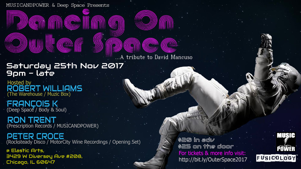 Dancing On Outer Space Flyer Ron Trent Francois K Peter Croce Robert Williams