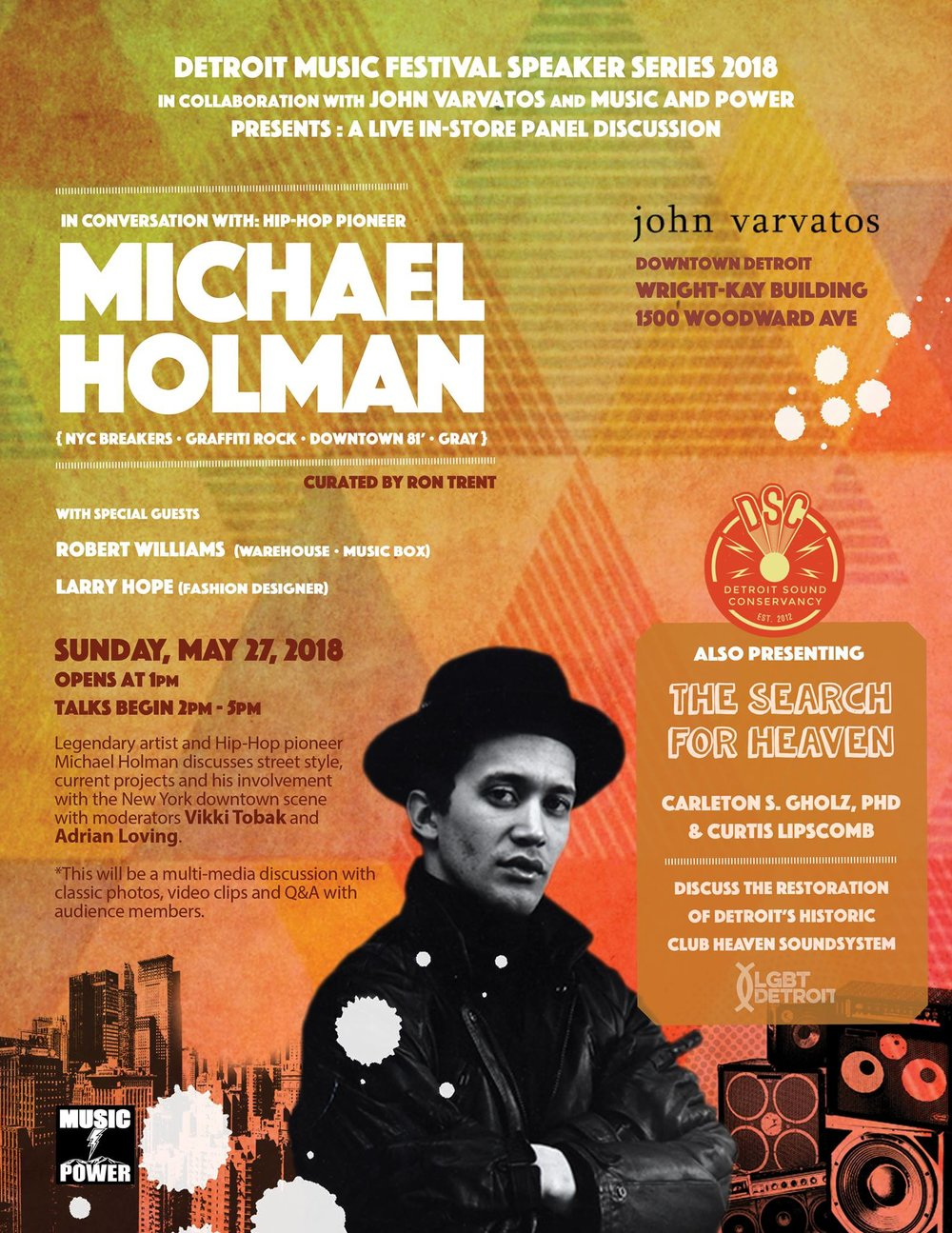 5.27 In Conversation With Hip Hop Pioneer Michael Holman