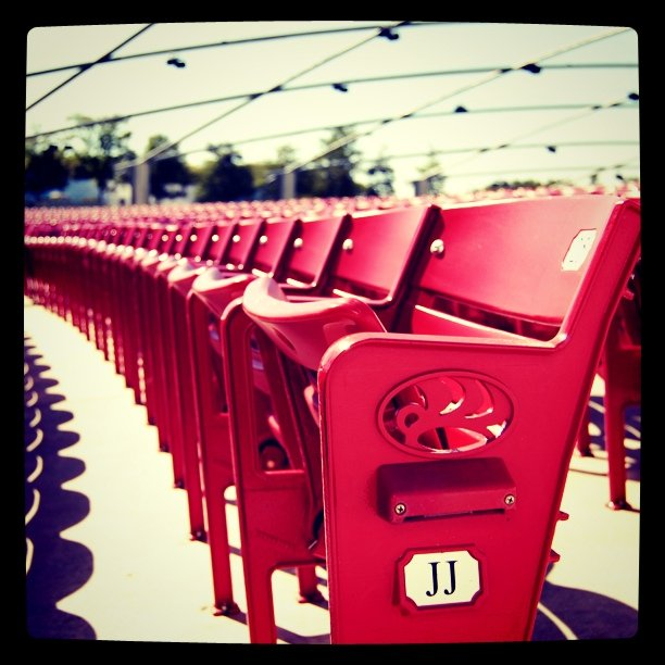 #chairs #seat #arena (Taken with  instagram )