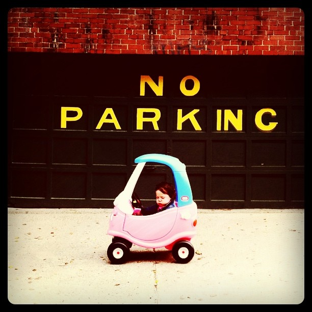 My daughter is illegal parking already. (Taken with  instagram )
