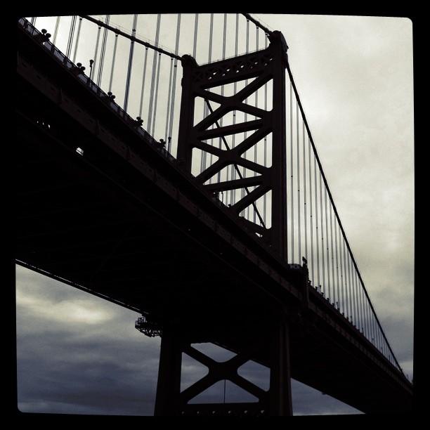 A new Ben Franklin Bridge shot. (Taken with  instagram )