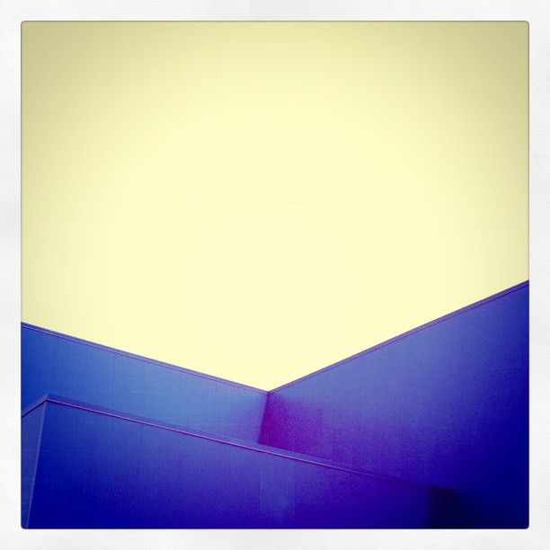 Blue Building. (Taken with  instagram )