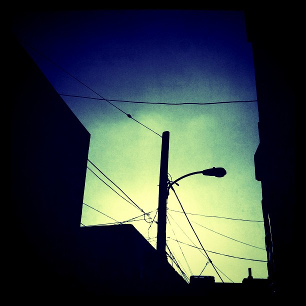 Sundown in the city. (Taken with  instagram )