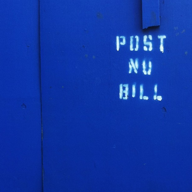 Post No Bill / NYC