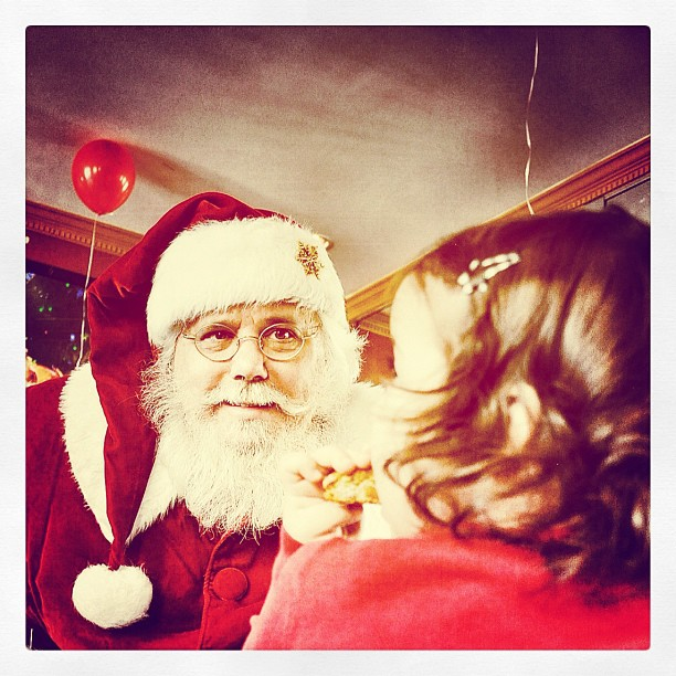 The Big Guy was no competition to the Biscotti!!! But an overall great with #Santa @bridgetfoys (Taken with  instagram )