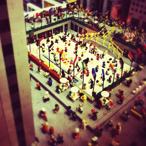 Another shot of Rockefeller Center, but built entirely out of Legos @ The Lego Store NYC #lego (Taken with  instagram )