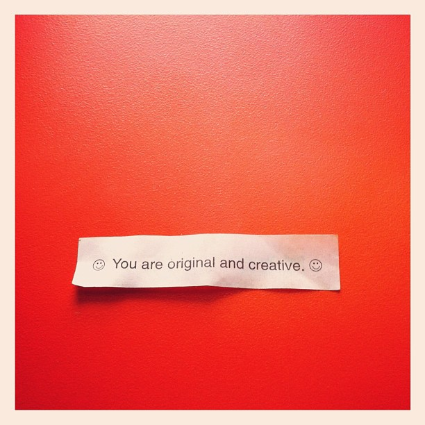 Pretty cool to get a compliment from a fortune cookie! #thethingsfortunecookiessay (Taken with  instagram )