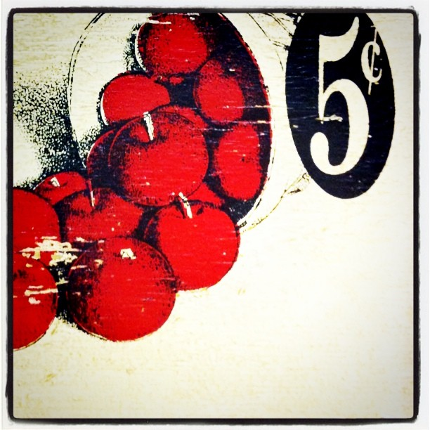 #iphone #vintage #apples #fruit #sign #moss (Taken with  instagram )