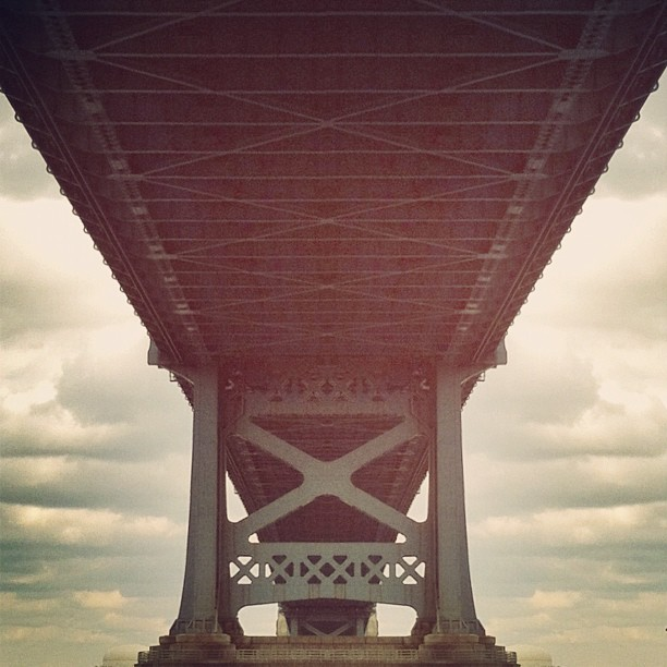 Under the bridge… (Taken with  instagram )