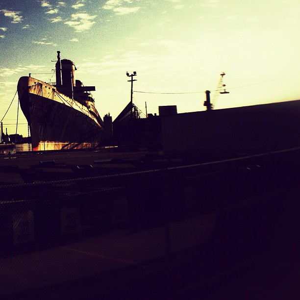 SS UNITED STATES. The fastest ocean liner ever built, and the largest passenger liner to be built in the USA - is docked in Philadelphia. #ssunitedstates (Taken with  instagram )