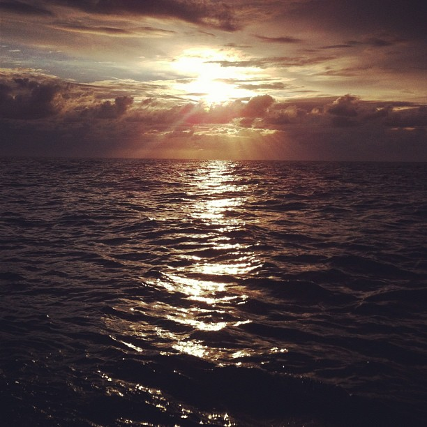 Sundown at sea #obx (Taken with  instagram )