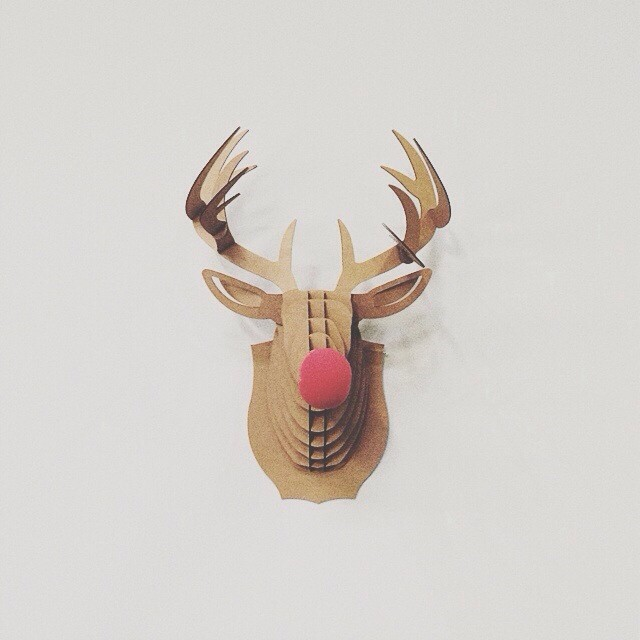 The most famous reindeer (cardboard) of all…