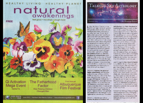 Deborah Sipple, Astrological Columnist for Northern New Mexico's Natural Awakening's Publication