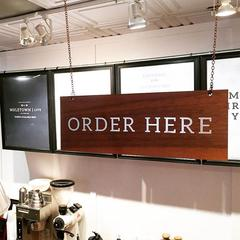 Point of Sale signage at Muletown Coffee