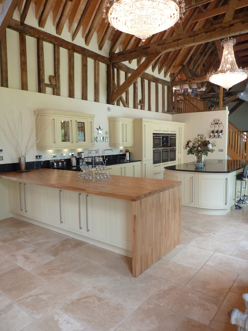 Attractive In Frame Painted Kitchen In A Wonderful Barn Conversion ASHWELL   Barn  Conversion Kitchen Designs Part 24