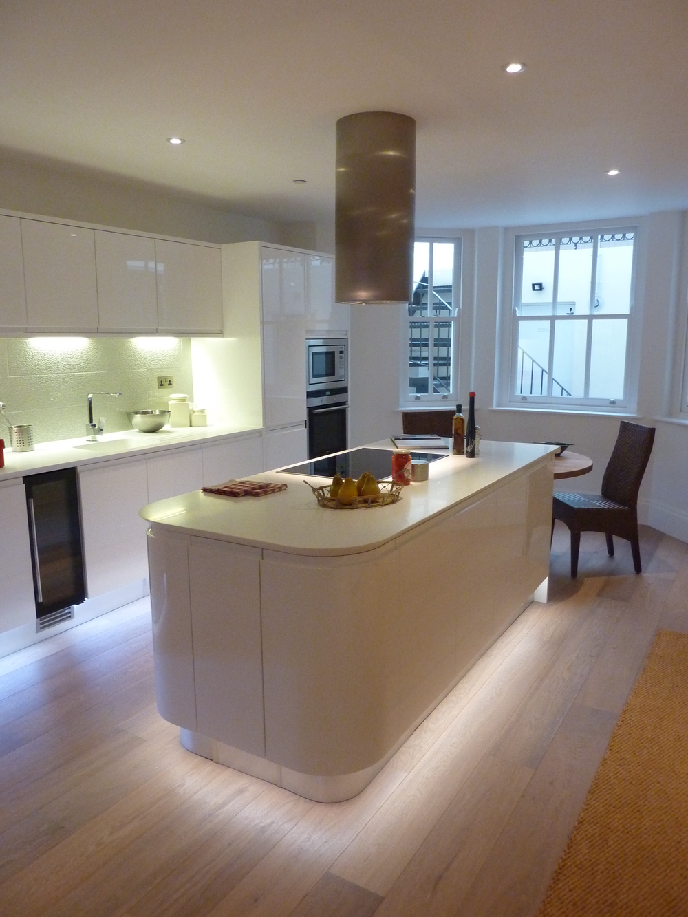 Plinth Lighting For Kitchens Sharksnose In Notting Hill Ashwell Contracts Ltd