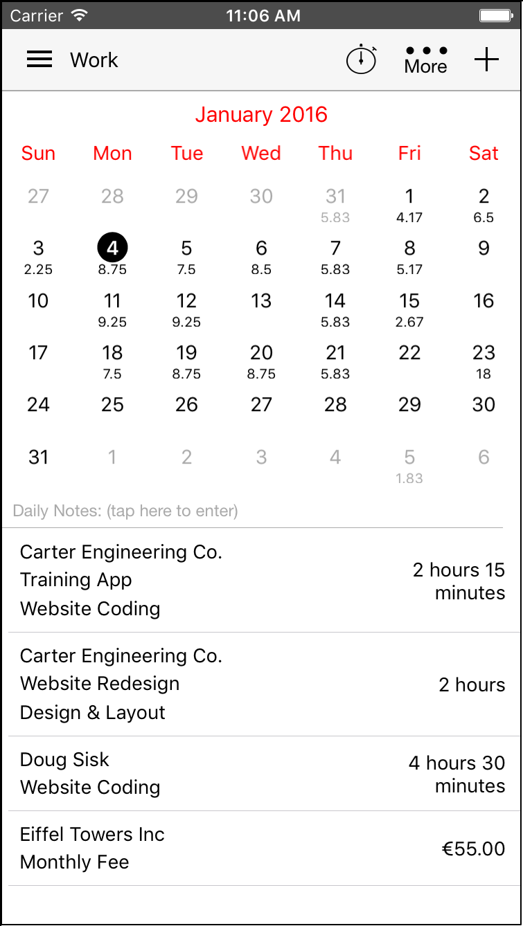 iPhone Gallery Accounting By Workbox – Billing Formats
