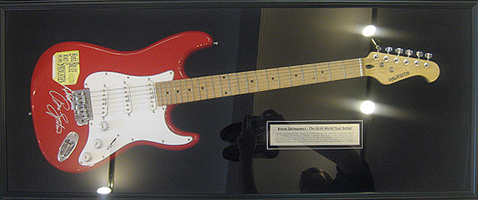 A Guitar Signed By The Boss