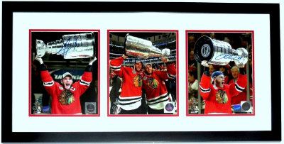 Framed Hockey Triple 8x10 Photograph Celebration