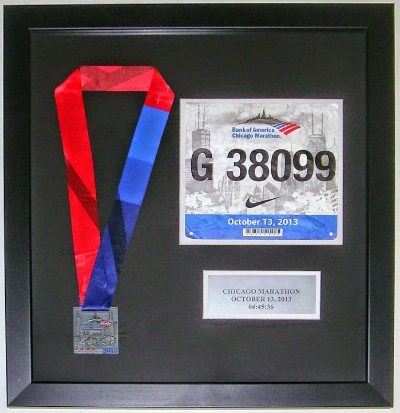 Marathon Medal, Bib, and Plate