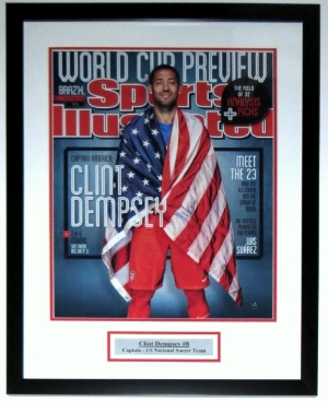Clint Dempsey Signed Team USA 16x20 Photo - Steiner Sports COA Authenticated - Professionally Framed