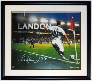 Landon Donovan Signed 16x20 Photo - Upper Deck Authenticated COA - Professionally Framed