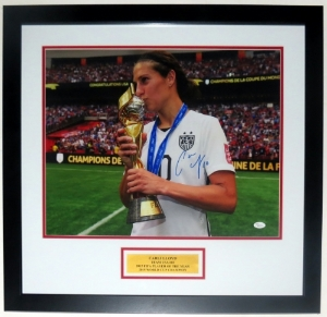 Carli Lloyd Signed Team USA 16x20 Photo - JSA COA Authenticated - Professionally Framed