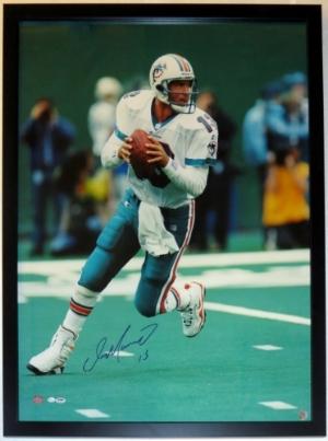 Dan Marino Signed Miami Dolphins 30x40 Photo - PSA DNA COA Authenticated - Professionally Framed