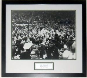 Bill Russell Signed Boston Celtics 16x20 Photo - JSA COA Authenticated - Professionally Framed & Plate