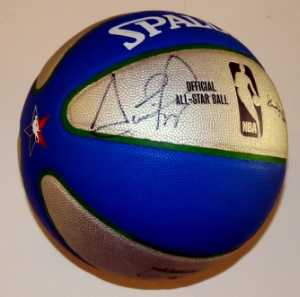 Scottie Pippen Signed Spaulding All Star Game Basketball - PSA DNA COA Authenticated